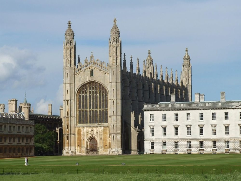 Cambridge, King's College mit Kapelle (Bild: Tbmynors, Wikimedia, CC)