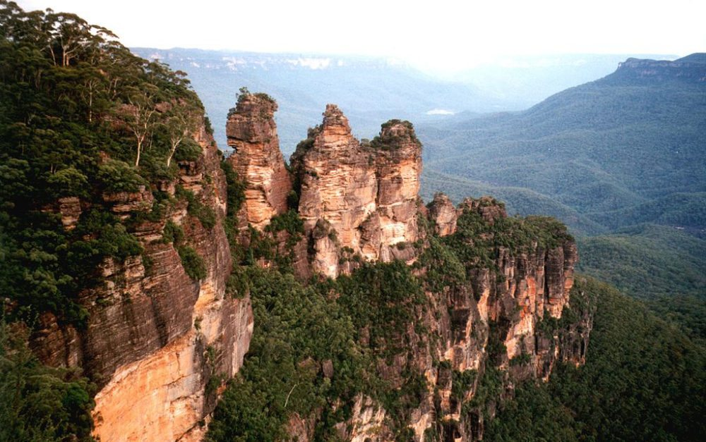 Felsformation Three Sisters, Blue Mountains (Bild: Cookaa, Wikimedia, CC)