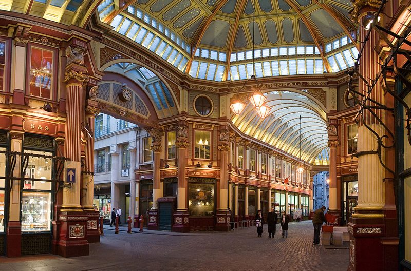 Leadenhall Market in London (Bild: DAVID ILIFF. License: CC-BY-SA 3.0, Wikimedia)