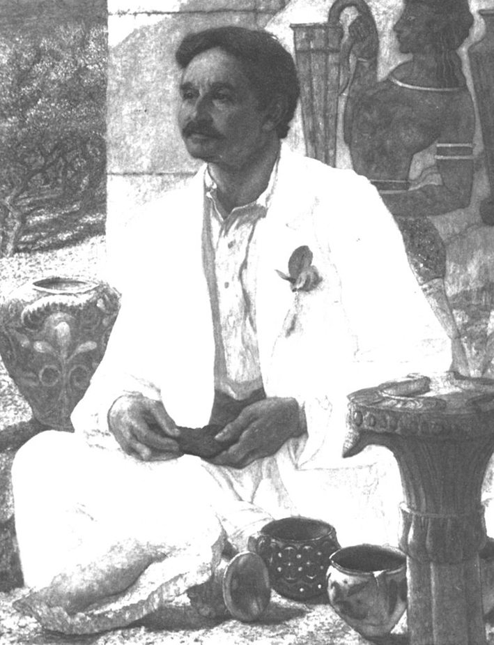 Sir Arthur Evans auf Knossos (Bild: William Blake Richmond, Wikimedia)