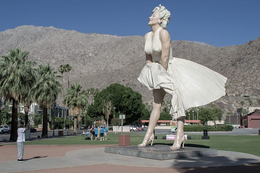 Marilyn-Monroe-Statue in Palm Springs (Bild: Visitor7, Wikimedia, CC)